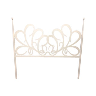 Shabby Chic White Iron Headboard