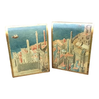 Vintage Italian Florentine Bookends - A Pair