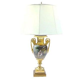 Antique Painted Scene Lamp