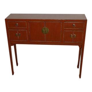 Art Deco Red Desk