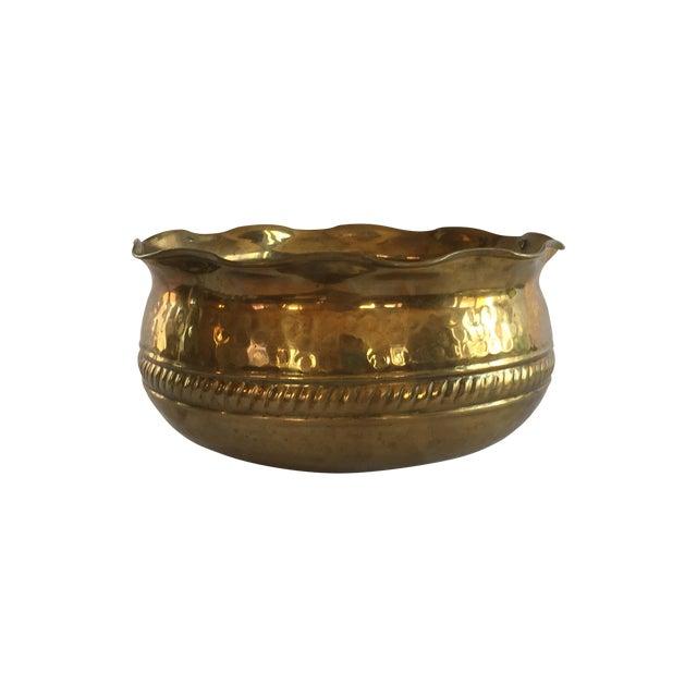 Hammered Brass Planter - Image 1 of 5