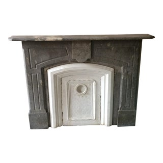 1880's Grey Marble Mantle
