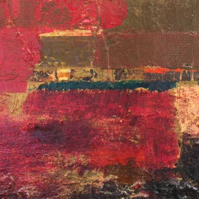 Textural Abstract Oil Painting - Image 6 of 7
