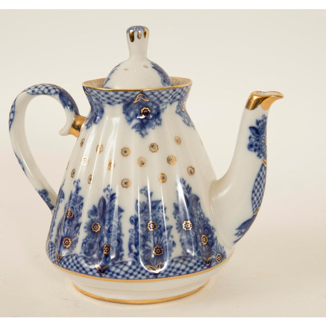 Lomonosov Cobalt Blue & Gold Porcelain Teapot - Image 4 of 11