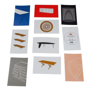 Mid Century Modern Iconic Furniture Image Postcards - Set of 10