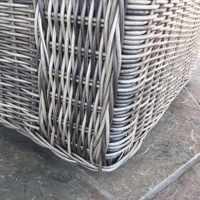Woven Outdoor Lounge Chair - Image 6 of 7