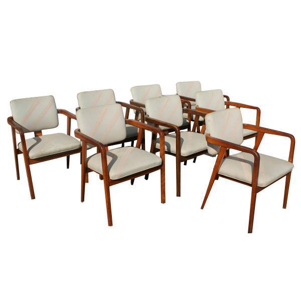 vintage herman miller chairs set of 8