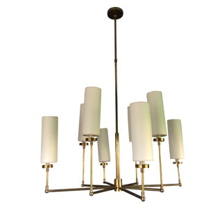 Thomas O'Brien Brass Chandelier with Paper Shades