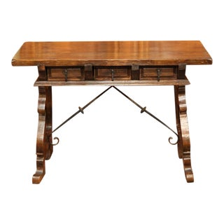 Early 20th Century Spanish Walnut Desk