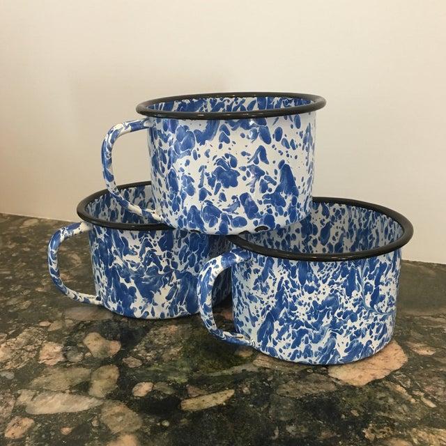 Enamel Spatterware Mugs - Set of 3 - Image 3 of 10