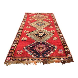 Vintage Hand Knotted Turkish Rug - 6′2″ × 11′10″