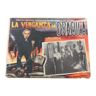 Vintage Dracula ''Brainwashed'' Horror Poster 1960''s
