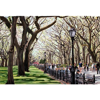 """Josh Moulton """"Central Park Canopies"""" Giclee Print After a Painting"""