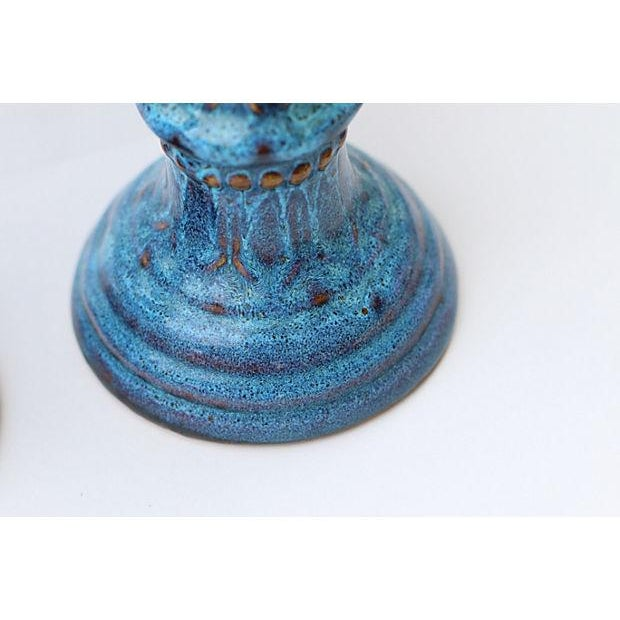 Drip Glaze Candleholders- A Pair - Image 6 of 6
