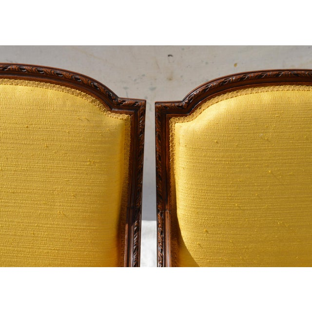 Louis XVI Fruitwood & Yellow Bergeres - A Pair - Image 5 of 10