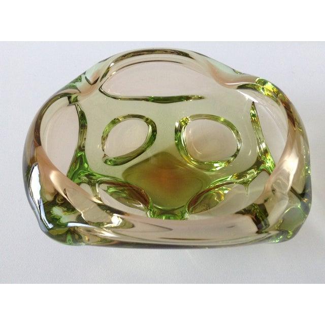 Segues Green & Taupe Italian Murano Bowl - Image 8 of 9