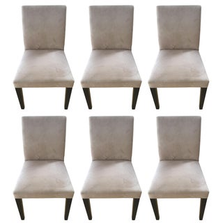 Crate & Barrel Pullman Taupe Chairs - Set of 6