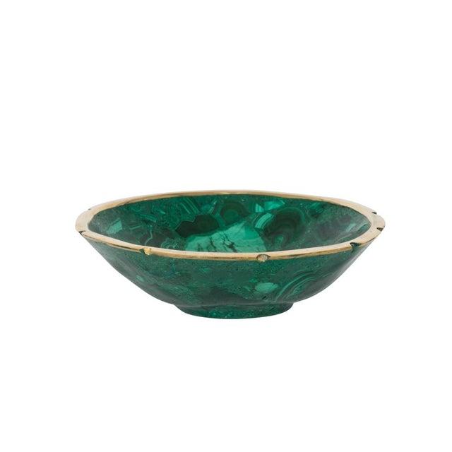 Medum Round Malachite Bowl - Image 2 of 2