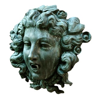 Cast Bronze Fountain Mask