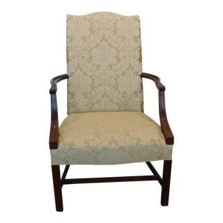 Hickory Chair Co James River Upholstered Martha Washington Mahogany Armchair #1075-45