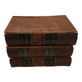 1847 Leather Bound Life of Buonaparte Books - Set of 3
