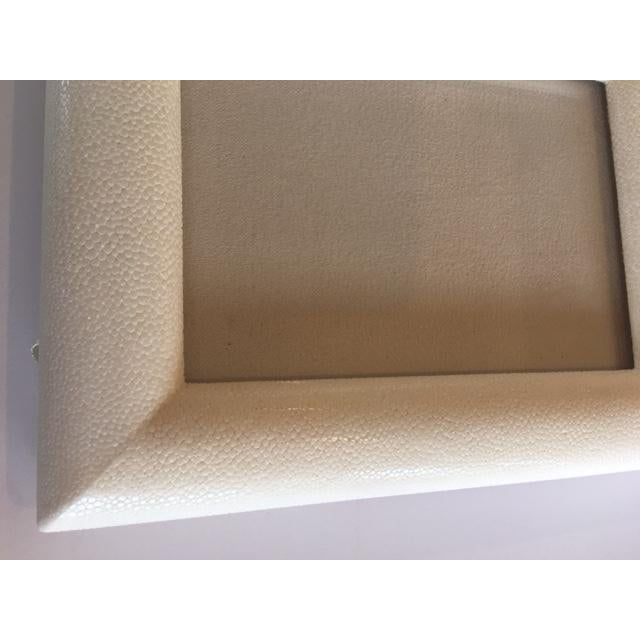 Cream Shagreen Picture Frame - Image 4 of 5
