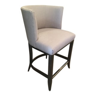 Kravet Monaco Grey Linen Counter Stool