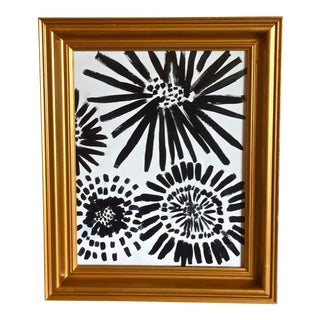 Original Black & White Abstract Painting