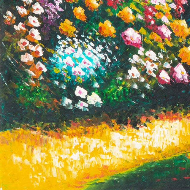 Flower Bed With Bay Overlook Oil Painting - Image 5 of 6