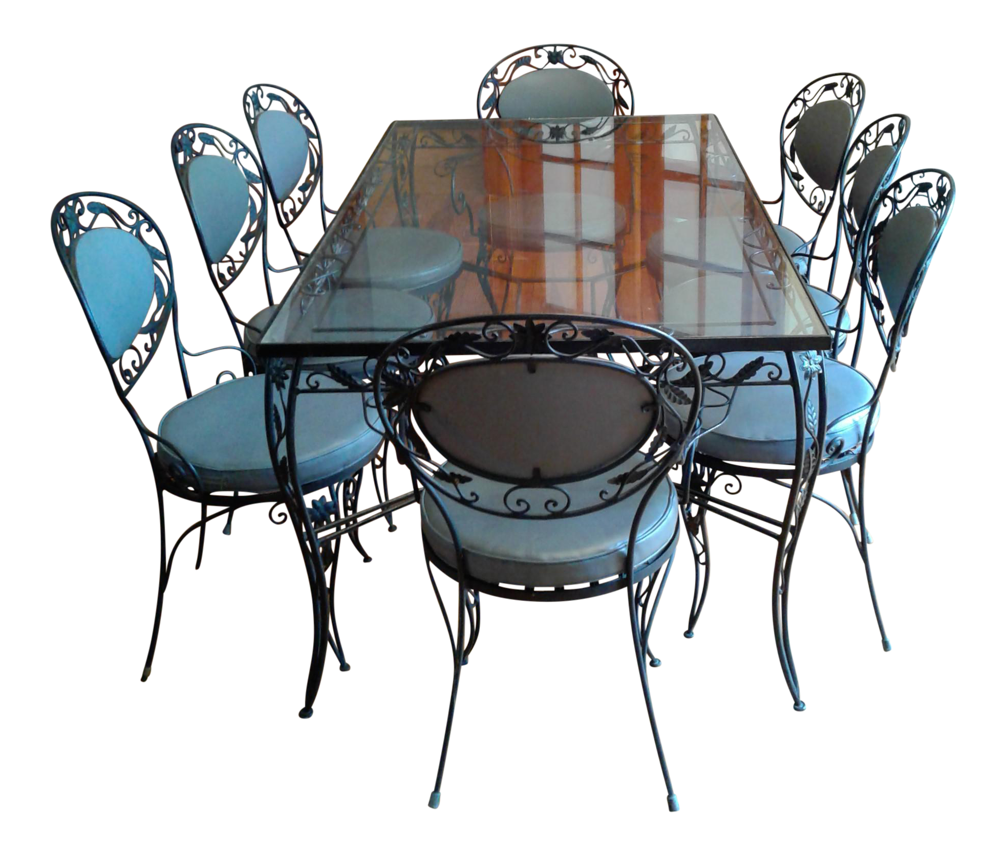 Wrought Iron Dining Room Table: Wrought Iron And Glass Dining Room Set