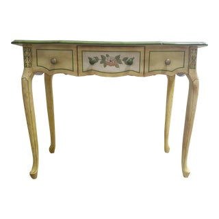 Vintage French Provincial Floral Desk