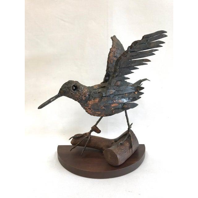 Vintage Copper Sandpiper Sculpture - Image 2 of 11