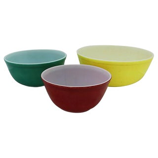1050s Pyrex Mixing/Prep Bowls - Set of 3