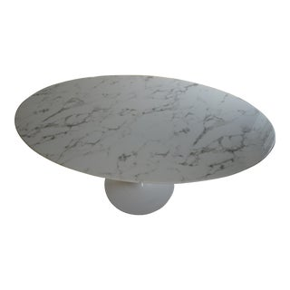 LexMod Lippa Oval Marble Top Dining Table