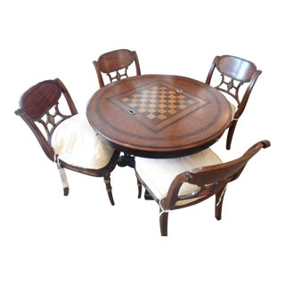 Theodore Alexander Game Table & Chairs