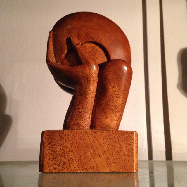 Image of Vintage Carved Wood Sculpture
