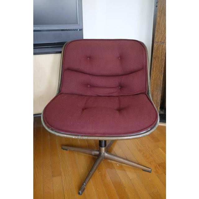 Image of Charles Pollock Knoll Armless 4 Star Base Side Chairs- Set of 3