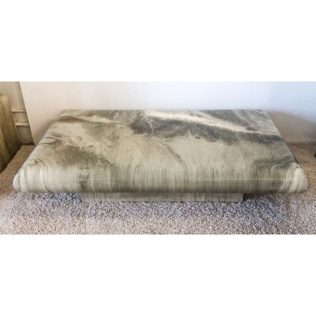 Monumental 1970s Faux Marble Coffee Table - Image 2 of 5