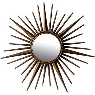 Vintage Chaty Vallauris Sunburst Convex Signed Mirror