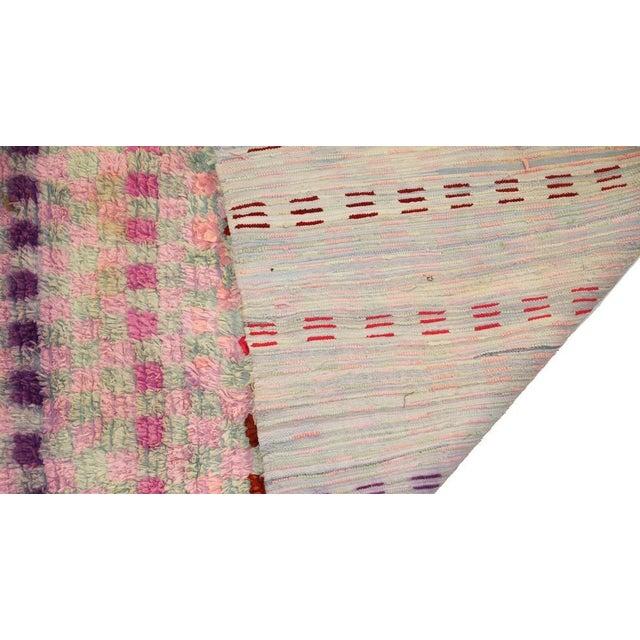 """Vintage Boucherouite Rag Rug - 3'8""""x6'1"""" - Image 3 of 3"""