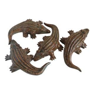Ceramic Alligators Figurines - Set of 4