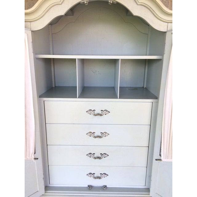 Hickory White French Provincial Armoire - Image 4 of 11