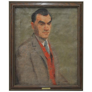 Early 20th Century Oil Portrait by Potthast