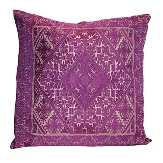 Swati Purple Embroidered Pillow