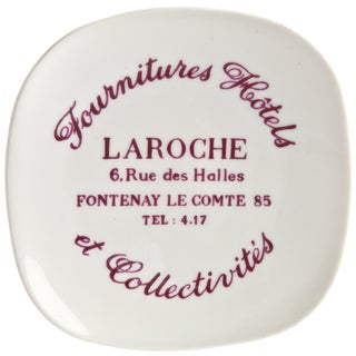 Vintage French La Roche Porcelain Ashtray