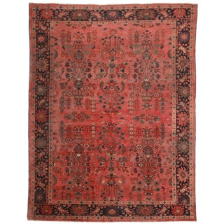 Hand Knotted Persian Mahal Rug - 10′4″ × 13′8″