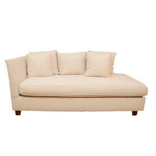 Custom Modern White Linen Settee