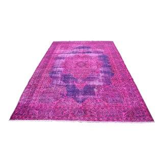Overyed Pink Anatolian Vintage Rug - 6′5″ × 10′