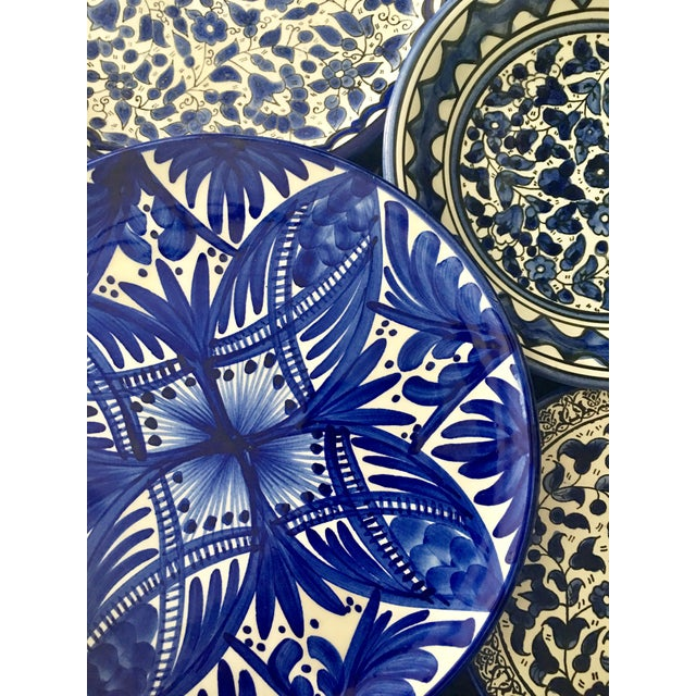 Blue & White Wall Plates - Set of 4 - Image 6 of 6