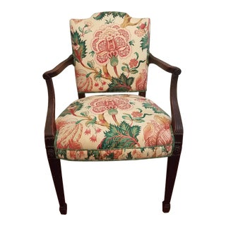 English Upholstered Hepplewhite Chair
